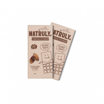 Tableta de Chocolate Negro 72% sin Azúcar y sin Edulcorantes - Pack x2    2x85g