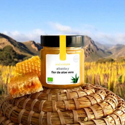 Miel ecológica de albaida y flor de aloe vera. Edición limitada. 210 gr.