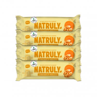 Barrita Raw - Zanahoria y Nueces Pack x4 | BIO 40g
